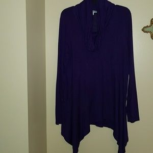 Long boxy top great with leggings!